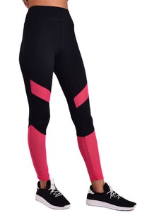 Gym/Yoga Medium Waist Tight - Pink & Black