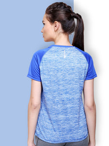 Women Round Neck T-Shirt - Blue