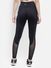 Load image into Gallery viewer, Gym/Yoga Medium Waist Mesh Tight - Black & Mesh