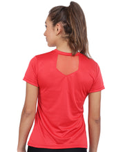 Load image into Gallery viewer, Women Rice Knit Polyester T-Shirt -Red
