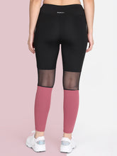 Load image into Gallery viewer, Gym/Yoga Medium Waist Tight Mesh On Knees - Black & Pink