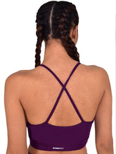 Load image into Gallery viewer, Muscle Torque Non-Wired Active wear Removable Padding Sports Bra - White & Purple