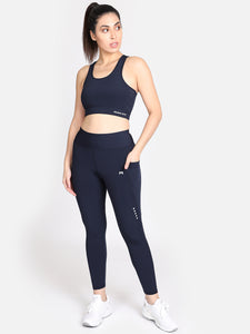 gym/Yoga High Waist Tight With Sports Bra Complete Set - (NB)