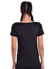 Load image into Gallery viewer, Muscle Torque Solid Women Round Deep Neck Black T-Shirt