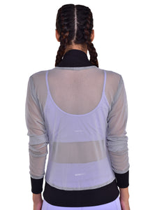 Front Zipper Sweatshirt Breathable Mesh - (LG)