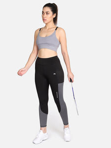 Gym/Yoga High Waist Tight With High Impact Sports Bra Complete Set-(GB)