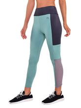 Load image into Gallery viewer, Gym/Yoga High Waist Pocket Style Tight Side Mesh - Light Green & Black