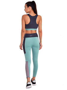 Gym/Yoga High Waist Tight With Sports Bra Complete Set - (GB)