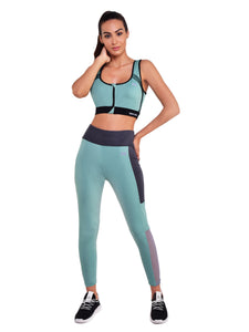 Gym/Yoga Tight & Front Zip Sports Bra Complete Set (GG)