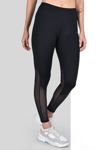 Gym/Yoga High Waist Half Mesh On Bottom Tight