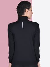 Load image into Gallery viewer, Women Pink Styleline Sweatshirt Front Zip & Pocket Style - Black
