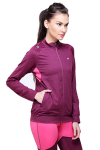 Muscle Torque Full Sleeve Purple Color Women Sweatshirt