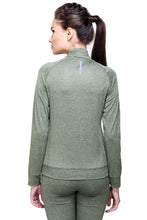 Load image into Gallery viewer, Full Sleeve & Front Zip Women Sweatshirt - Green