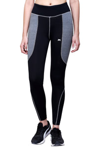 Gym/Yoga High Waist Tight - Black & Grey