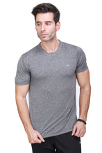 Load image into Gallery viewer, Solid Men Round or Crew Grey T-Shirt