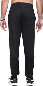 Solid Men Black Track Pants