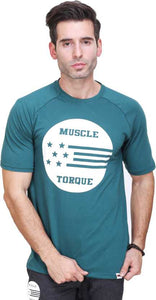 Printed Men Round or Crew Green T-Shirt