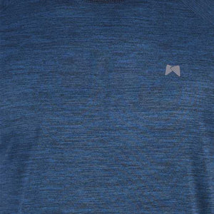 Solid Men Round or Crew Blue T-Shirt