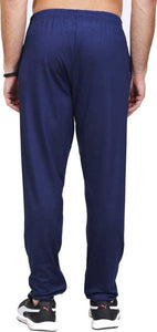 Solid Men Blue Track Pants