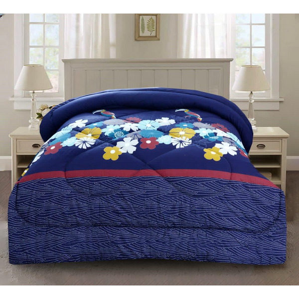 1 Pc Comforter Blue Floral Fantasy - Daffodils Home