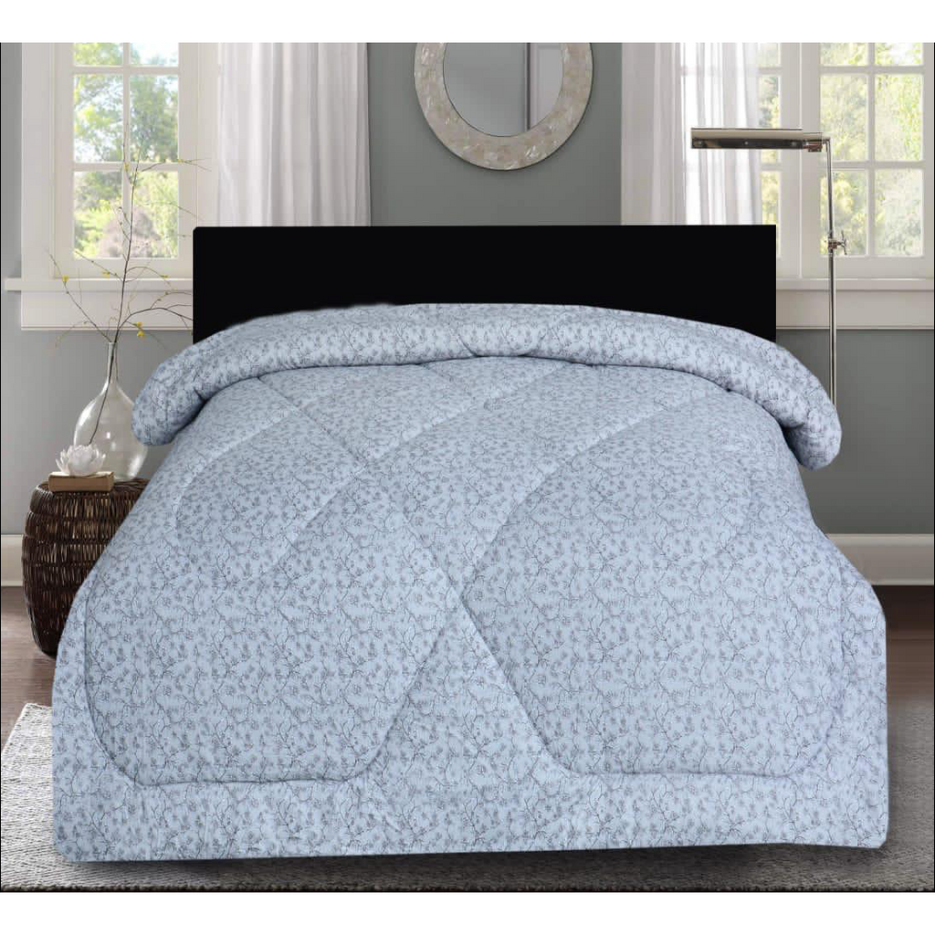 1 Pc Comforter Grey Floral