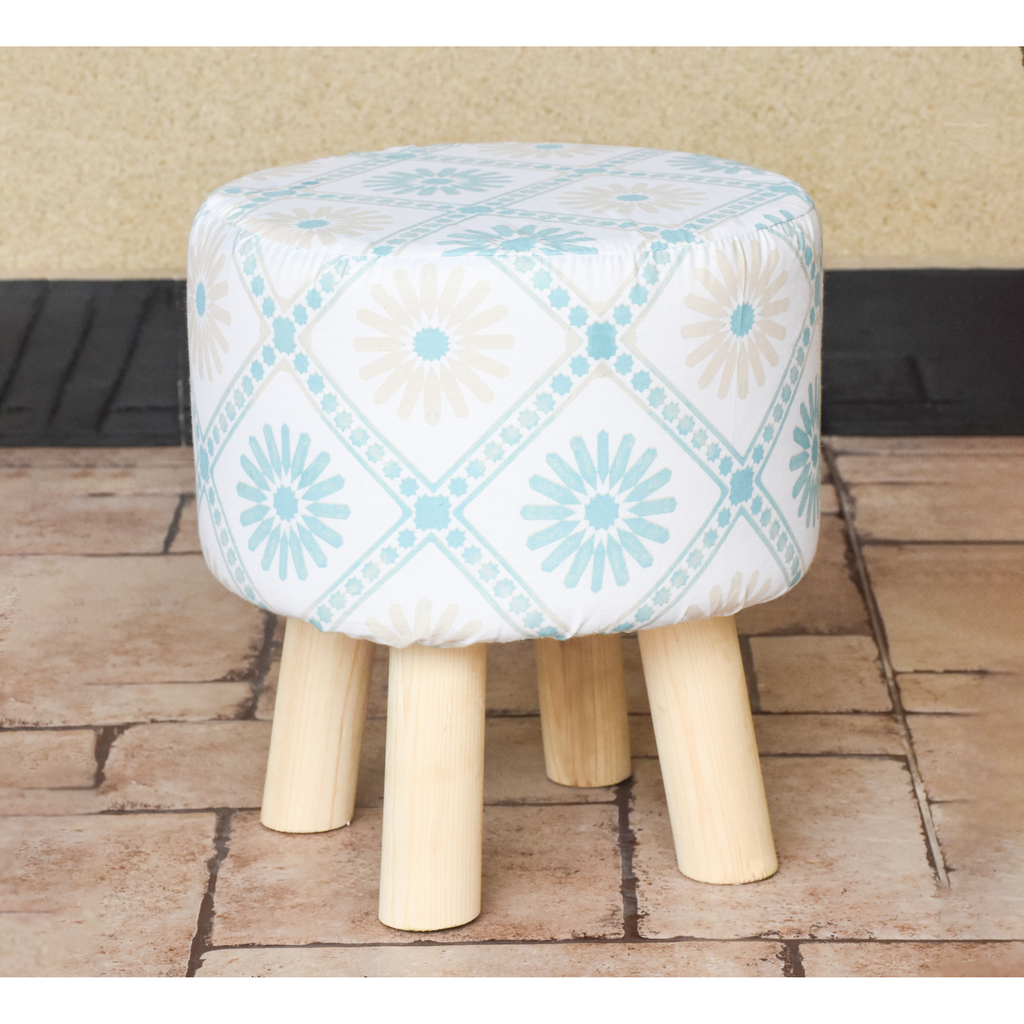 Wooden Round Stool-0012 - Daffodils Home