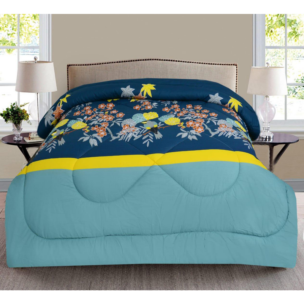 1 Pc Comforter Yellow Border