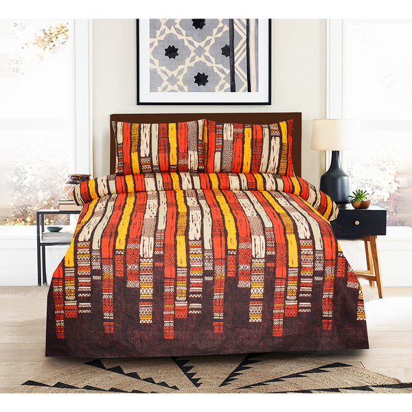 3PCs Bed Sheet Multi Colors