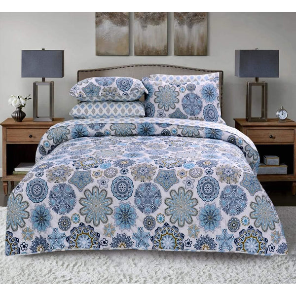 3 PCs BED SPREAD SET-BDH0101 - Daffodils Home