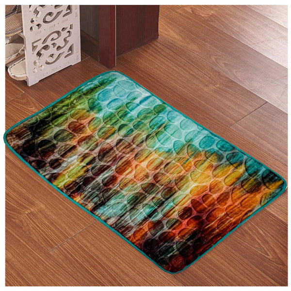 Memory Foam Bath mat Floor Shower Mat Rug Non-slip high Absorbent Shower Rug 16x24 inch Circle mat