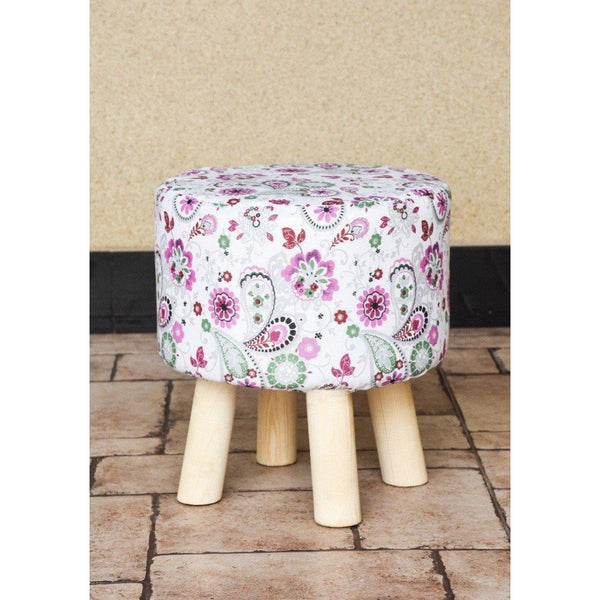 Wooden Round Stool-WS0002 - Daffodils Home
