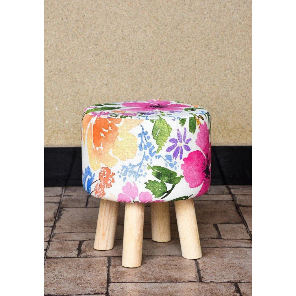 Wooden Round Stool-WS0007
