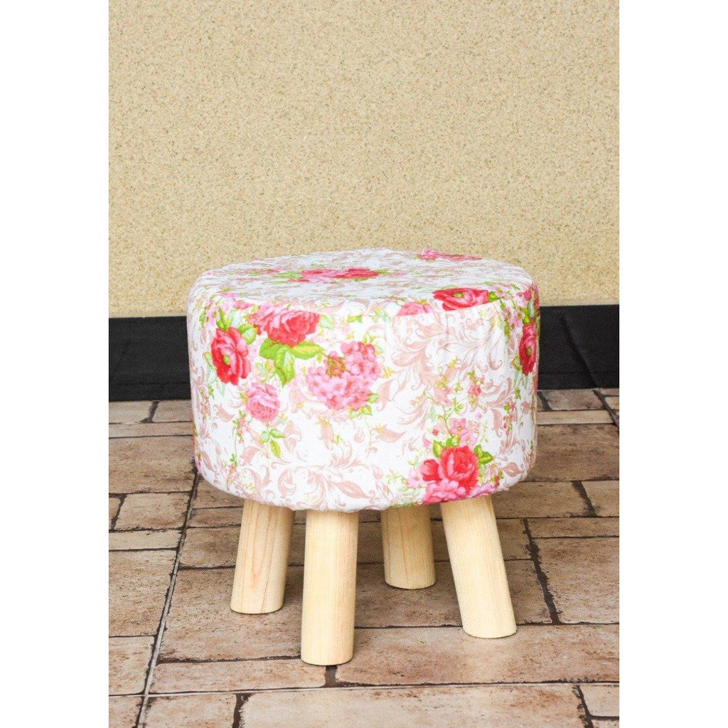Wooden Round Stool-WS0009 - Daffodils Home