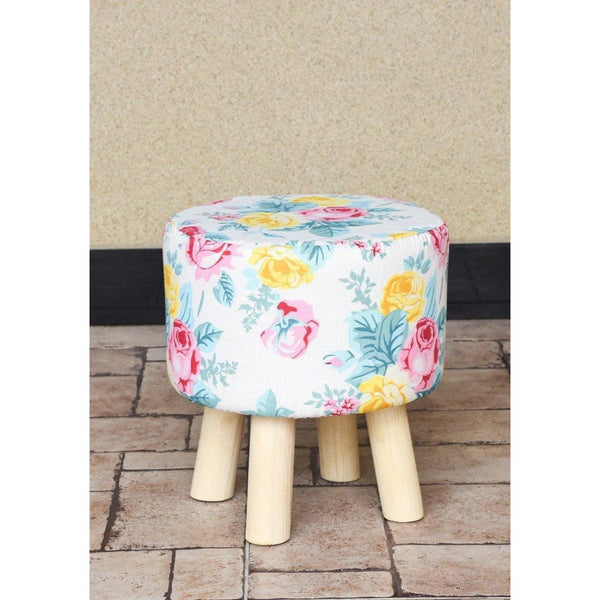 Wooden Round Stool-WS0013 - Daffodils Home