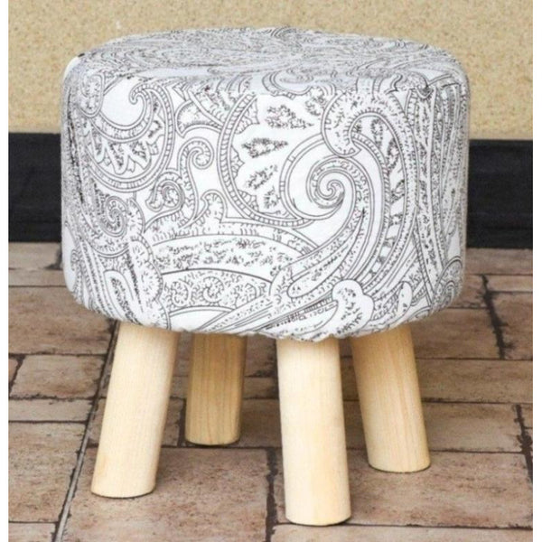 Wooden Round Stool-WS0014 - Daffodils Home