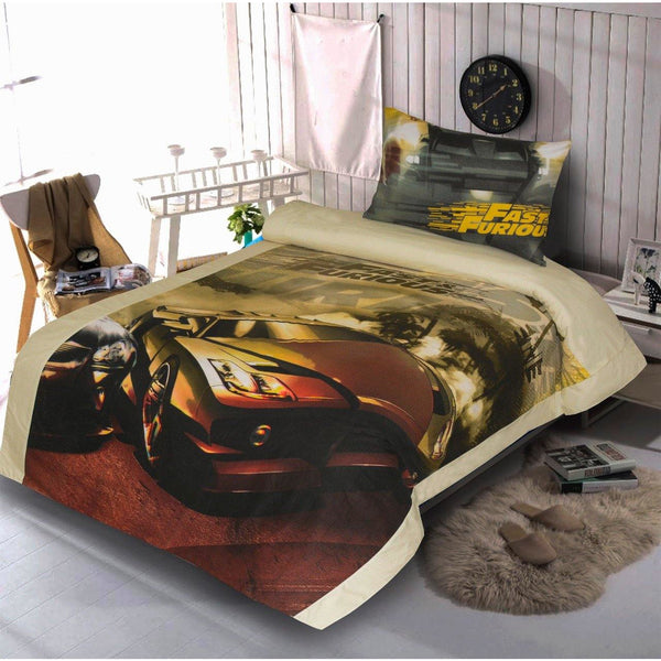 2PCs Single bed sheet Fast&Furious - Daffodils Home