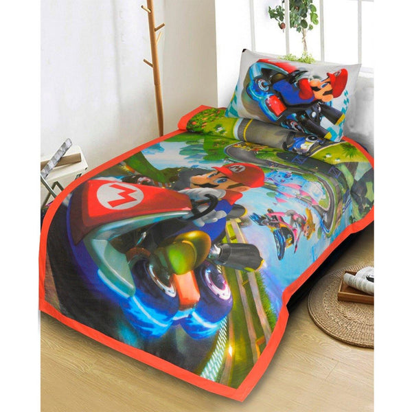 2PCs Single bed sheet Mario