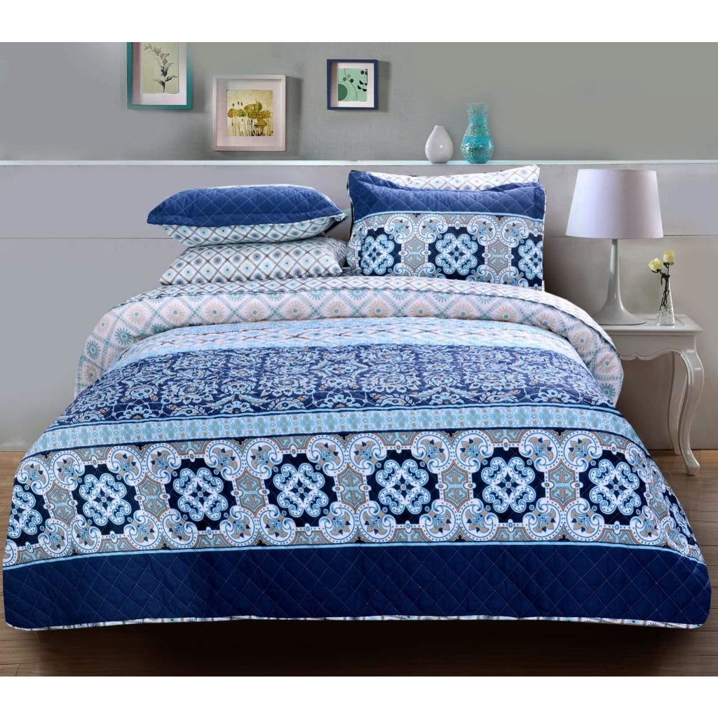 3 PCs BED SPREAD SET-BDH0099 - Daffodils Home
