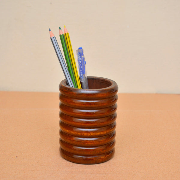 Wooden Pencil and Brush Holder