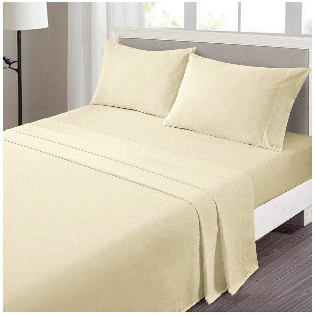 RICH COTTON FITTED SHEET-Beige - Daffodils Home