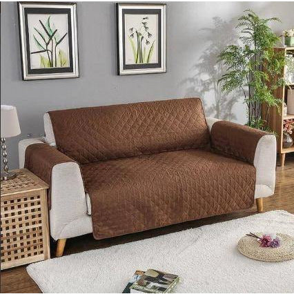 SOFA COVER-CHOCOLATE BROWN - Daffodils Home