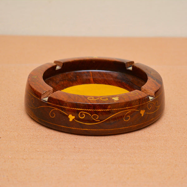 Hand Carved Wooden Ashtray