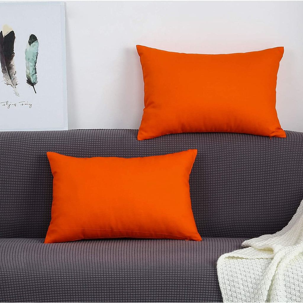Pack of 2 Pillow Covers Stander size 19*29 inch orange
