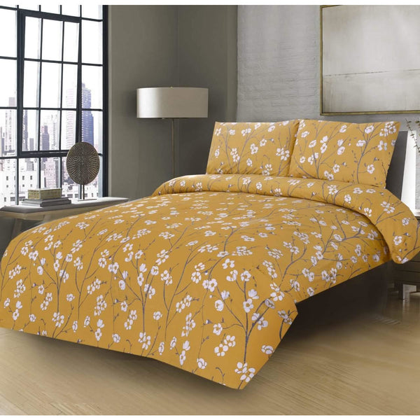 3PCs Bed Sheet Pansy Floral - Daffodils Home