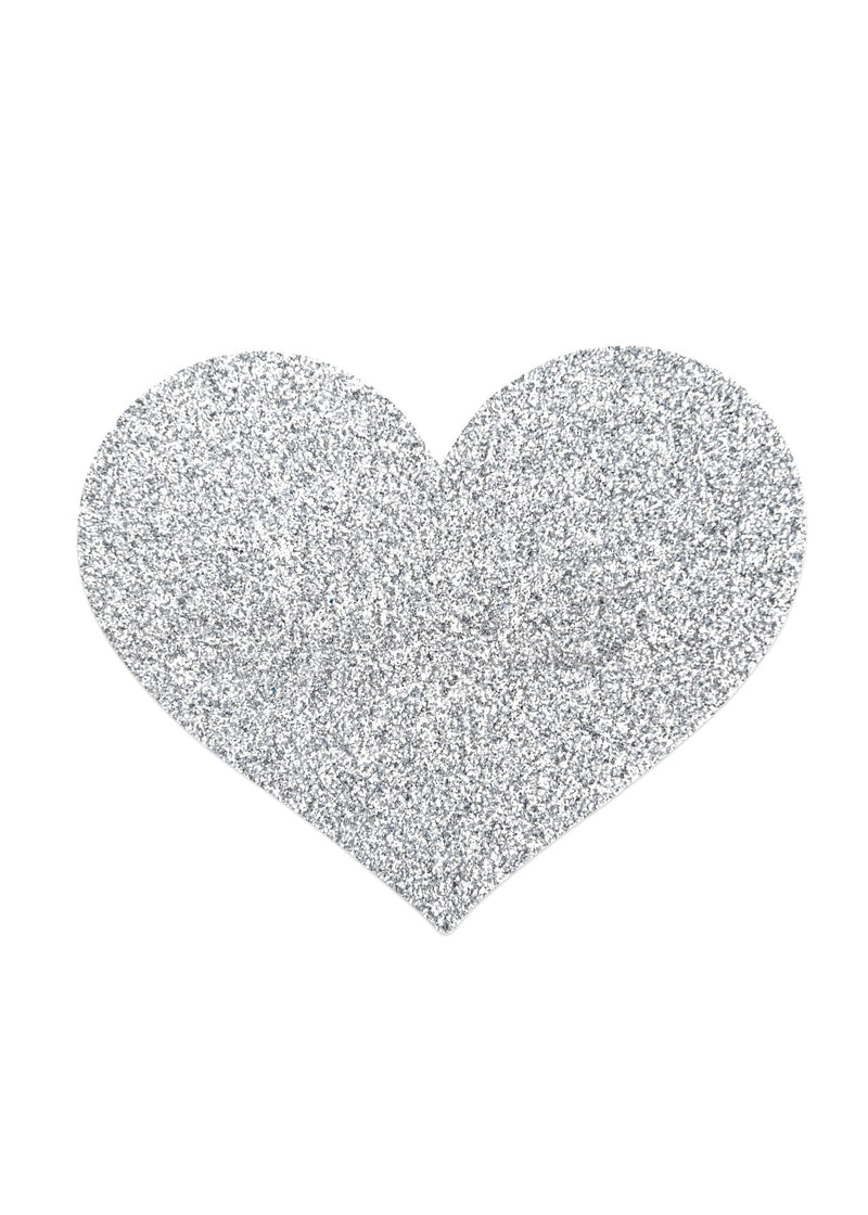 Flash Heart Glitter Nipple Reusable Covers-Accessories-Bijoux Indiscrets-AvecAmourLingerie