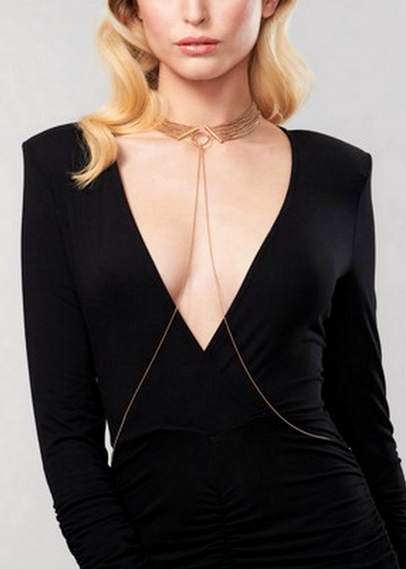 Magnifique Metallic Chain Choker-Accessories-Bijoux Indiscrets-AvecAmourLingerie