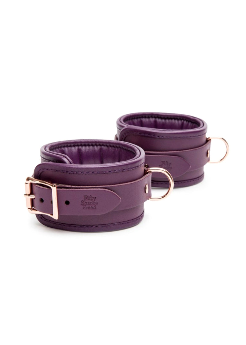 Fifty Shades Freed Cherished Leather Ankle Cuffs-Accessories-Fifty Shades of Grey-AvecAmourLingerie