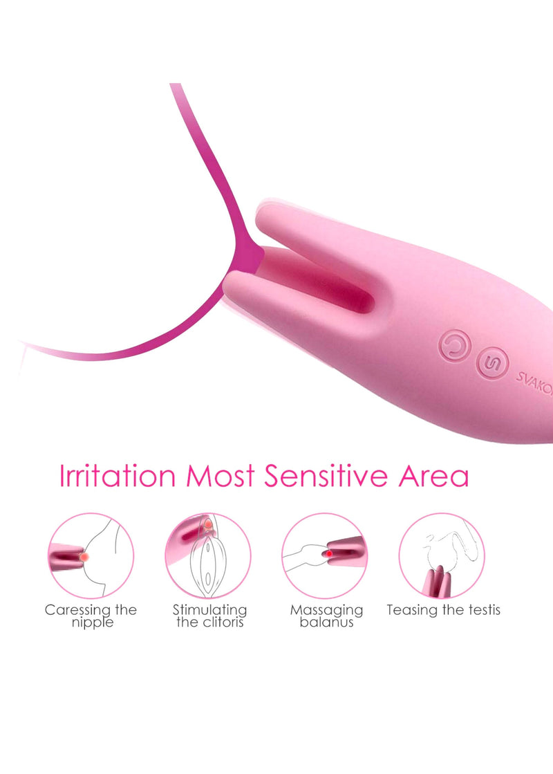 Svakom Nymph Soft Moving Finger Vibrator - Avec Amour Lingerie Boutique