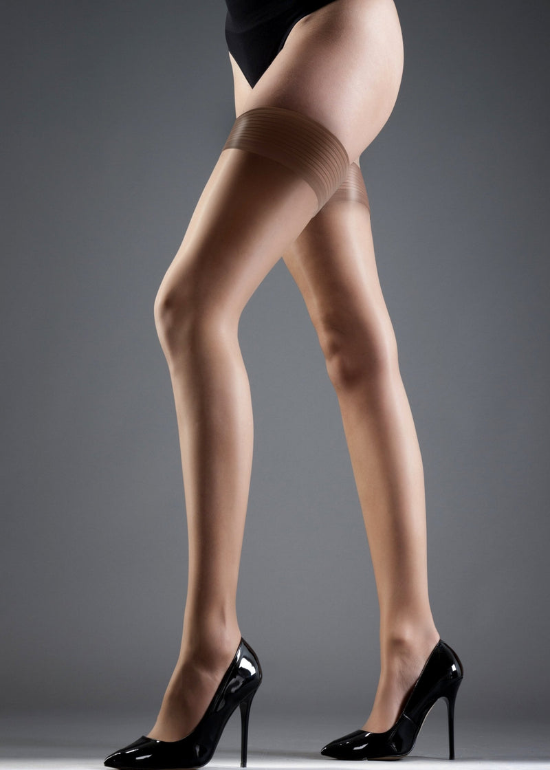 Stockings Hold Ups Plain Leg/Plain Top-Accessories-Bluebella-AvecAmourLingerie