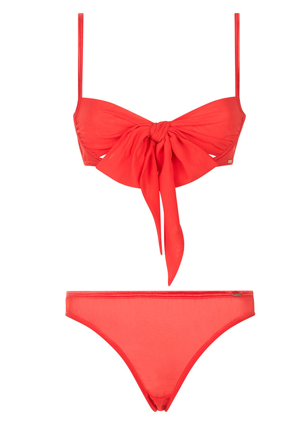 Bluebella Alyssa Bra and Brief Set (Red) - Avec Amour Lingerie Boutique